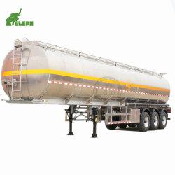 ユーロスタイル 3 アクスル液体燃料水ミルク輸送トラックセミトレーラ 304 ステンレススチール水タンク