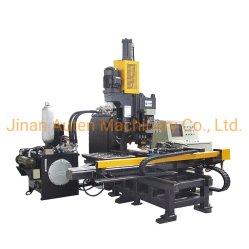 Hydraulische CNC-Hochgeschwindigkeitsplatten-lochende Markierung und Bohrmaschine für Stahlplatte