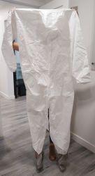 Protection en polypropylène PP Polypro Coverall Workwear Poly peintres peinture Vêtements de travail de la sécurité à usage unique
