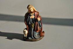 Tallada a mano de resina personalizado estatuas religiosas para el hogar Deco