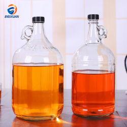 10L de gros de café-bar de style américain personnalisé Décoration de table Vase en verre avec bouchon de bouteille petite poignée de l'oreille