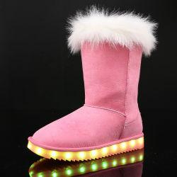New Fashion Lady equipamento LED Equipamento para carregamento via USB de boot de neve no inverno quente da Sapata