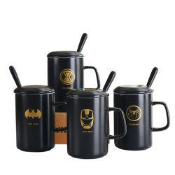 Mok van de Gift van het Porselein van de Kop van het Dolomiet van de Kop van de Koffie van het Patroon van de batman de Promotie Ceramische