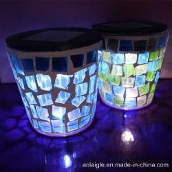 Lumières solaires avec lampes de bougie en verre Mostic couverts