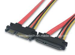 SATA (15+7) de la broche M/F Synchronisation des données du disque dur câble d'alimentation