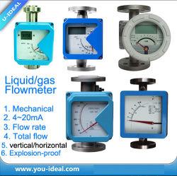 Contatore del rotametro del metallo, gas rotativo competitivo, contatore per liquidi, portata del contatore, flusso totale, 4~20mA