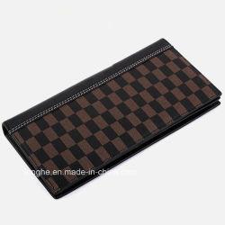 Хорошее качество Zip PU Grid печать Wallet для мужчин (ZX10202)