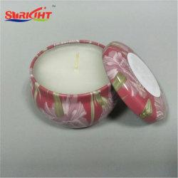 Vela de estaño de cerámica con bellas patrón