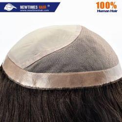 Custom женских моно и шелк верхнюю часть волос Wig замена системы