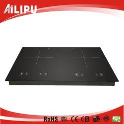 Écran tactile Plaque chauffante électrique double cuisinières à induction de la flamme