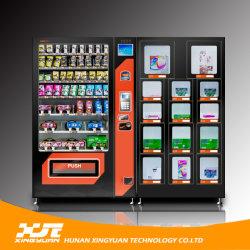 Combinação de máquinas de venda automática para preservativos e guardanapos sanitários e brinquedos sexy
