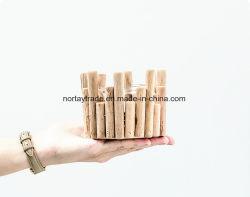 Portavelas de madera al por mayor de la vela de madera de palo para la decoración del hogar