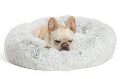 En molleton chaud Chien 5 tailles de lit chaise longue Pet coussin ronde pour les Petites Moyennes Grandes les chiens et chats chenil d'hiver chiot mat fournitures