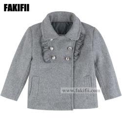 As crianças de moda da marca Vestuário Vestuário Infantil Menina Lã cinzenta cubra o desgaste de Inverno