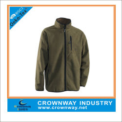 Velo jaqueta de treino para os homens feitos de tecido de velo Micro