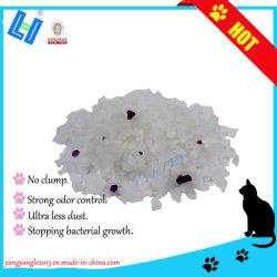 Silikagel-Katze-Sänfte mit purpurroten Partikeln