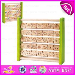 2015 교육 학습 토이 Big ABC 나무 알파벳 Abacus, 어린이 나무 알파벳 Abacus, Hot Sale 어린이 Beech Abacus W12c007