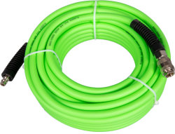 خرطوم هواء مطاطي أخضر من مادة PVC مع قارنة التوصيل السريع من النوع الأوروبي
