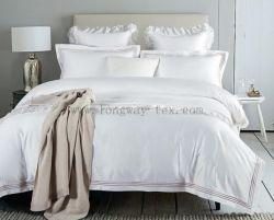 Hochwertiges 100s 500tc weißes langes Heftchen Baumwollhotelblatt Setzen
