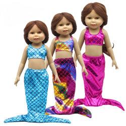 인어공주 수영복 인형 의류 18인치 인형 옷을 입습니다 베이비 돌의 옷 의류 정장