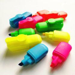 عرض مصغر بـ 6 ألوان الأطفال رسم علامة مخصصة على قوس قزح تم تعيين الأقلام في صندوق PVC