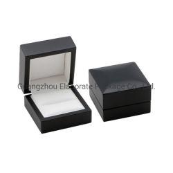 Generosa Classic negro mate de madera MDF de pequeñas joyas colgante/Anillo Pulsera pendientes/Regalo de embalaje de los casos