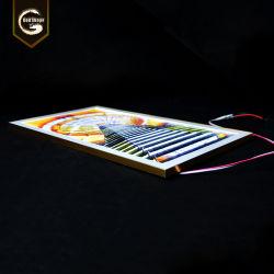La casella chiara sottile eccellente personalizzata LED di prezzi di fabbrica della Cina firma il blocco per grafici &#160 del manifesto della foto; con la lampadina