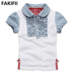 Fakifii 제조업체 2021 여름 새 디자인 Girl Cotton 고객 맞춤 폴로 키즈용 셔츠