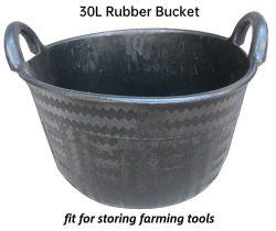 가축 낙마용품 및 경작 도구 구조용으로 사용되는 30L 고무 버킷 고무 버킷을 둥글게 하는 공구 호스 피더