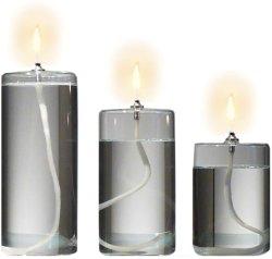 Coluna de vidro Candleholder Lantern lâmpadas a óleo