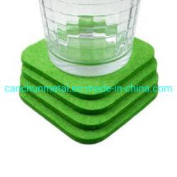 Capa personalizada Coaster Lã de poliéster sentida Cup Coasters para bebidas