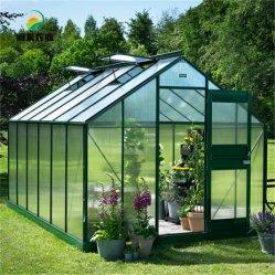 Легко DIY 4 сезоны алюминиевых 10мм поликарбоната выдвигаемая хобби сад парниковых