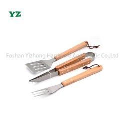 3 ПК из нержавеющей стали для приготовления пищи кемпинг набор инструментов для гриля для барбекю