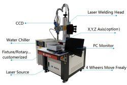 machine à souder automatique de soudage laser professionnel de la plaque de 2 mm en acier inoxydable