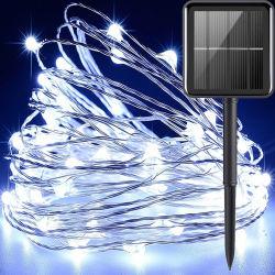 Luzes de String Solar Fada estrelado de Fio de Cobre Flexível para luzes de String exterior resistente para jardim
