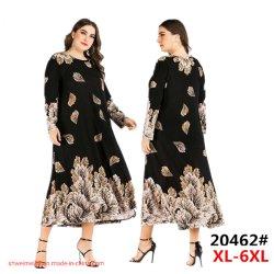 2020 New Design 여성용 및 사이즈 드레스 팩토리 무슬림 롱 라디스 레이디 의류 드레스를 입으세요 카디겐스 코튼 도매 이슬람 의류 여성 복장 카프탄스