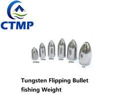 El Gusano de tungsteno pulido Bullet peso para la pesca de agua salada