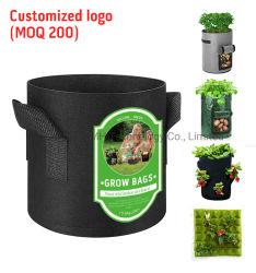 OEM Non Woven 1 2 3 5 10 20 30 50 100 200 Gallon Garden Kleutertuin Groente Bloem Poly vilt Plantmachine Fabric Pot Plant Grow Bags