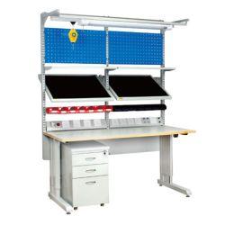 Montagetisch Einstellbarer Werkzeugschrank Arbeitsplatz Labor ESD Arbeitsplatz