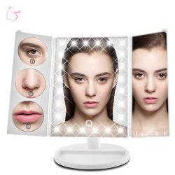 Hot vendre monsieur-L30113 le pliage de la lumière avec loupe miroir d'écran tactile