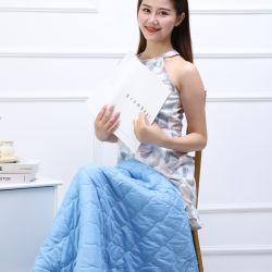 Proveedor de la fábrica Hezheng abrazo trasero eléctrico almohada de masaje para el coche y el hogar o de viaje 2 en 1 almohada Cobija con el calor y vibraciones
