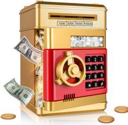 ユニークな子供たちはプラスチックピギー銀行の自動パスワード救世主のお金を支持している 硬貨デジタル ATM Piggy 銀行