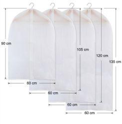 Venda por grosso de promoção Logotipo Personalizar PEVA impermeável à prova de tecido Suite Véu prensa para cobrir Garment cobrir vestido de casamento roupas veste TAMPA MALA