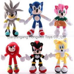Venta caliente lindo peluche suave Muñeca de felpa Super Sonic