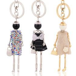سلسلة مفاتيح الهدايا الترويجية شعار مخصص رخيص من الجلد المعدني LED أكريليك السيليكون
