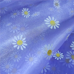 Tessuto di maglia stampato stampa offset floreale di Tulle del Organza