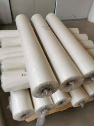 حجم شفاف 5 بوصة 80 نقطة تقلص فيلم LDPE تقليص Mini قم بلف غشاء رفاف بالنعام الصناعي للتغليف بالموزع