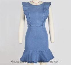 2020 de In het groot Nieuwe Vrouwen Jean Denim Ladies Sexy Dress van de Manier van het Ontwerp