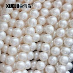 7-8mm Abの品質の安く白い円形の自然な本物の培養された淡水の真珠ストリング(XL180017)