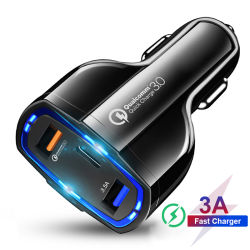 35W QC 3.0 Vitesse Rapide de charge rapide 3 Port USB double chargeur rapide de type C Chargeur de voiture pour Samsung